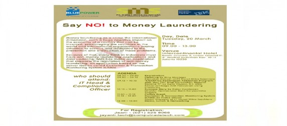 Say No To Money Laundering